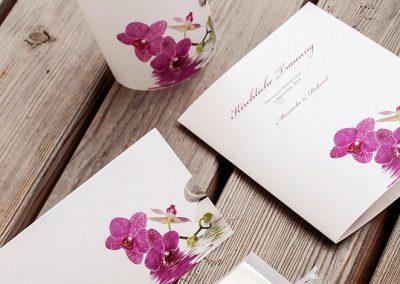 Hochzeit Einladung und Speisekarten Rosa